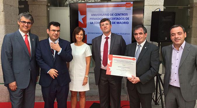 RECONOCIMIENTO OFICIAL DE LA CONSEJERÍA DE EDUCACIÓN DE COMUNIDAD AUTÓNOMA DE MADRID A LA LABOR EDUCATIVA A LA SALLE GRIÑÓN