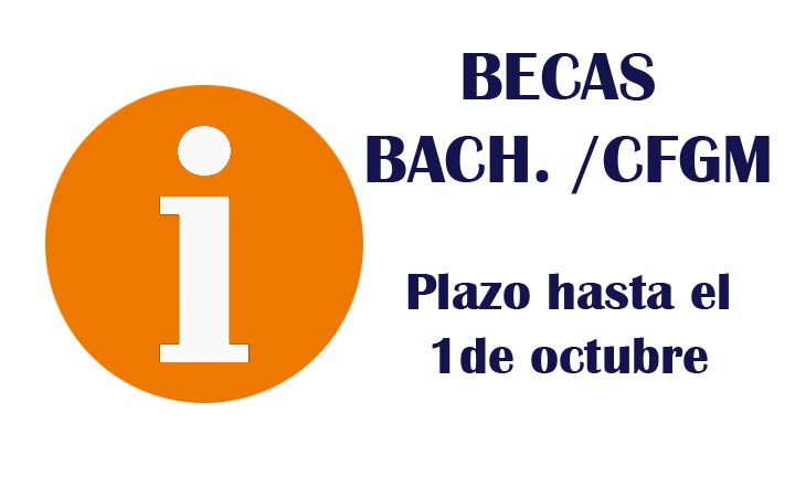BECAS POST-OBLIGATORIAS: BACHILLERATO Y CFGM