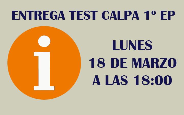 ENTREGA TEST CALPA 1º EP