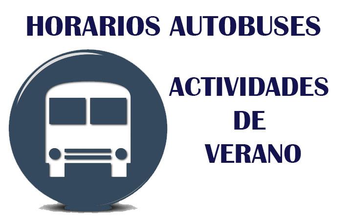 HORARIO BUSES ACTIVIDADES DE VERANO