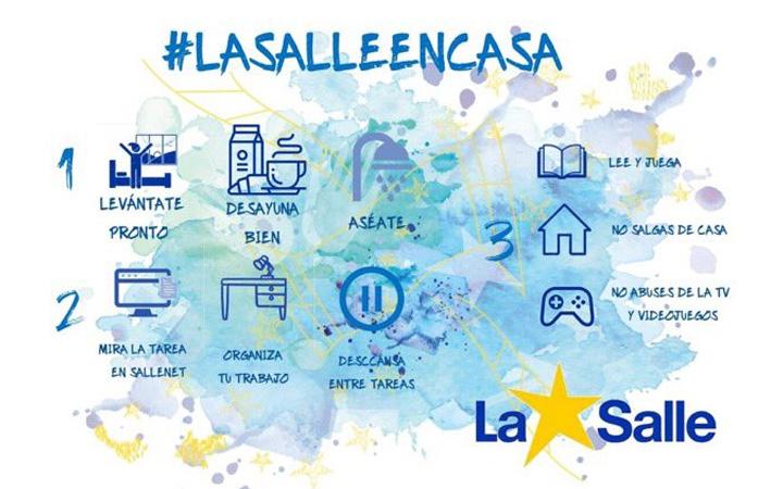 #LaSalleEnCasa PROTOCOLO DE ACTUACIÓN