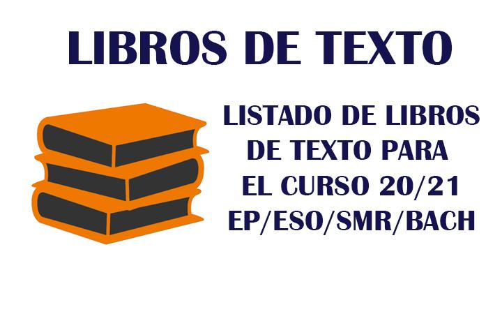 LIBROS DE TEXTO PARA EL PRÓXIMO CURSO