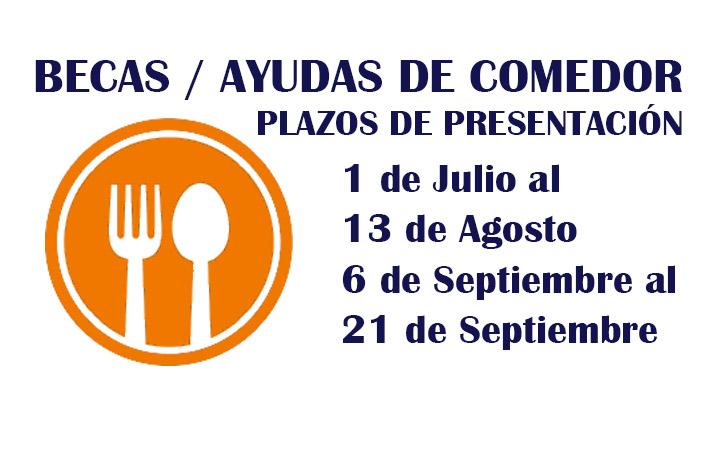 BECAS: AYUDAS DE COMEDOR CURSO 2020-2021