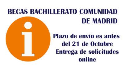 BECAS BACHILLERATO COMUNIDAD DE MADRID