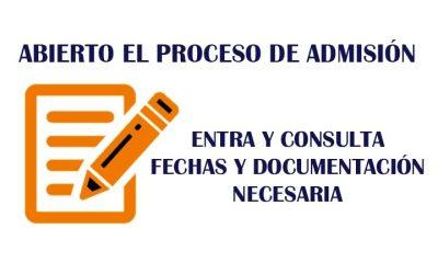 PROCESO DE ADMISIÓN 2021/22